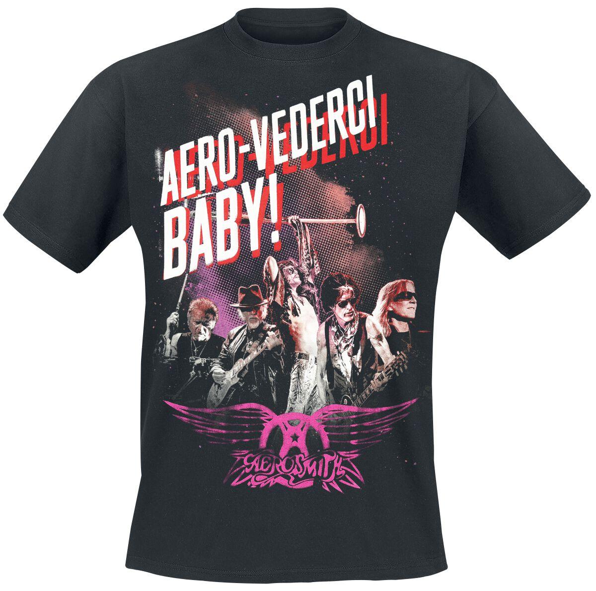 Zespoły - Koszulki - T-Shirt Aerosmith Aero-Vederci Baby Tour 2017 T-Shirt czarny - 366644