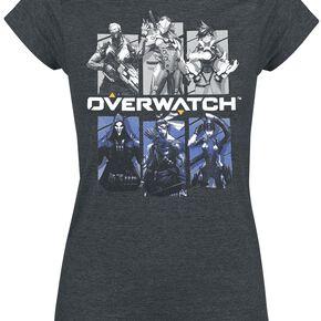 Overwatch Bring Your Friends T-shirt Femme gris sombre chiné