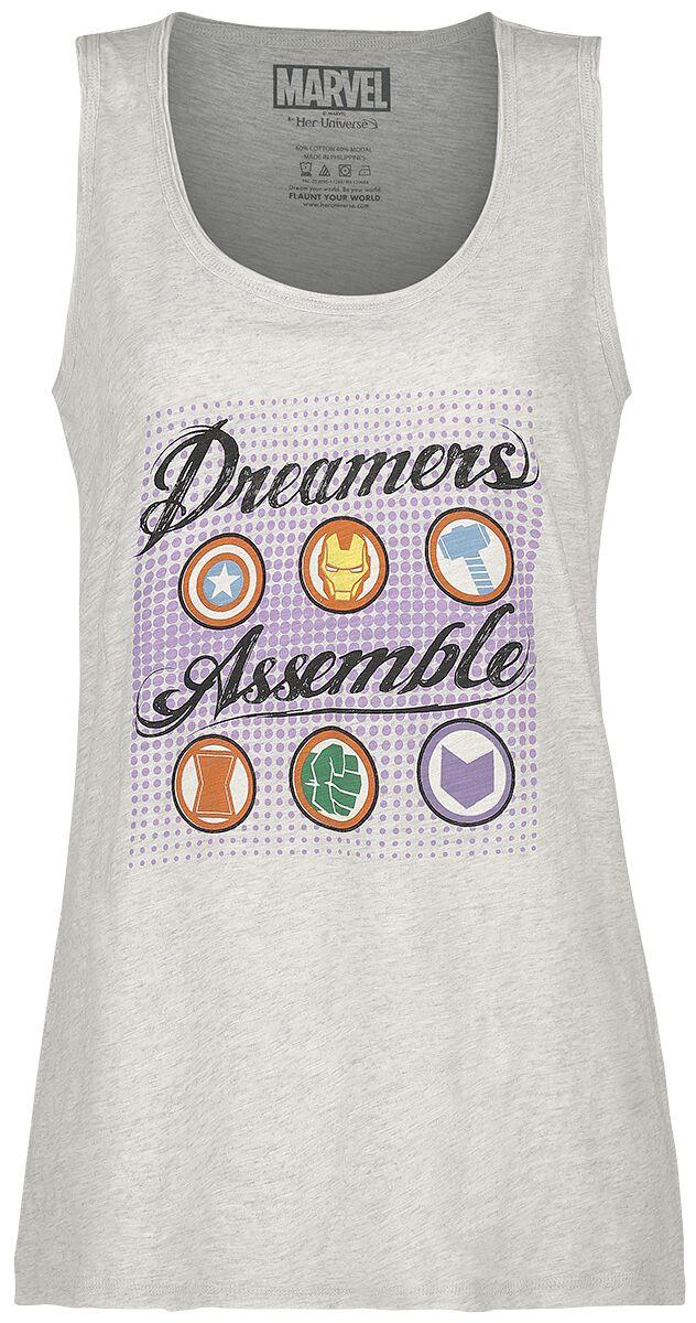 Merch dla Fanów - Topy - Top damski Avengers Dreamers Assemble Top damski odcienie beżowego - 366716