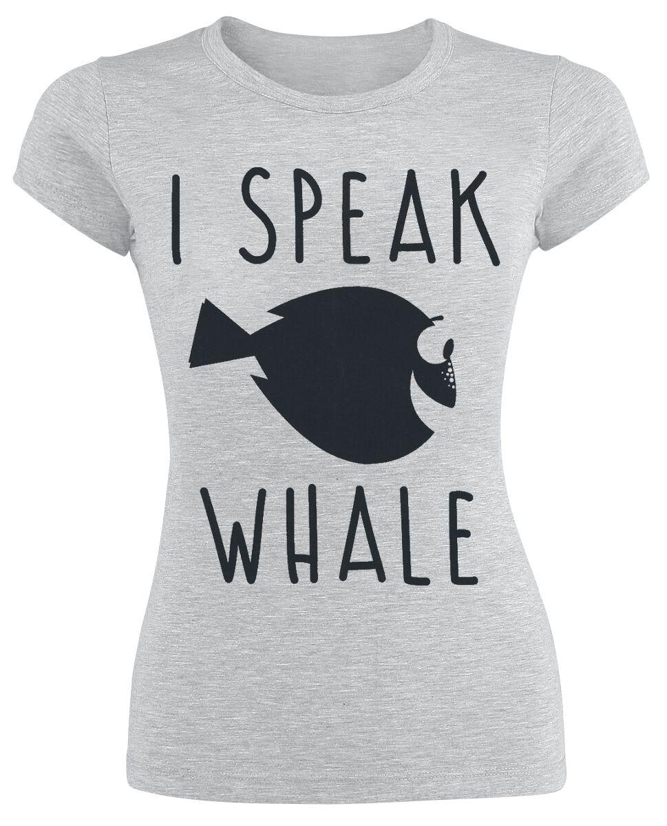 Merch dla Fanów - Koszulki - Koszulka damska Gdzie jest Nemo? I Speak Whale Koszulka damska odcienie szarego - 366771