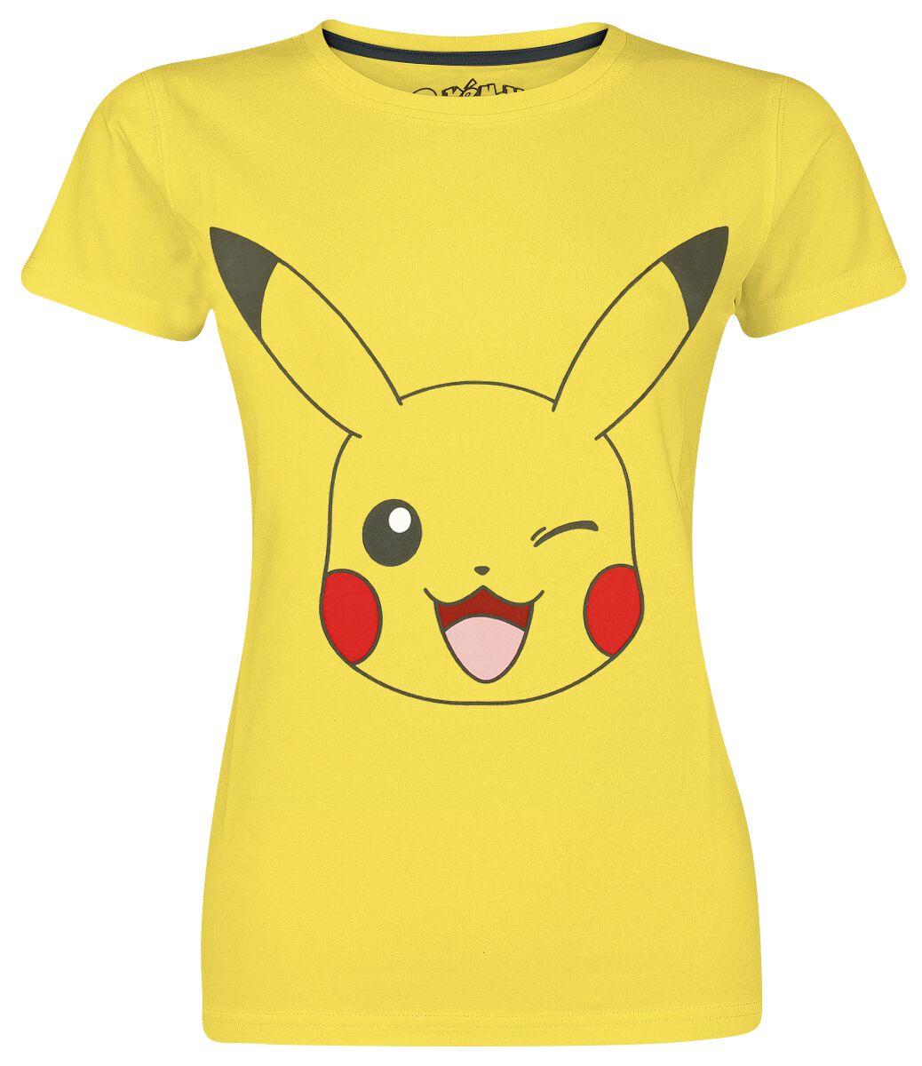 Pokemon Pikachu - Big Face Koszulka damska żółty