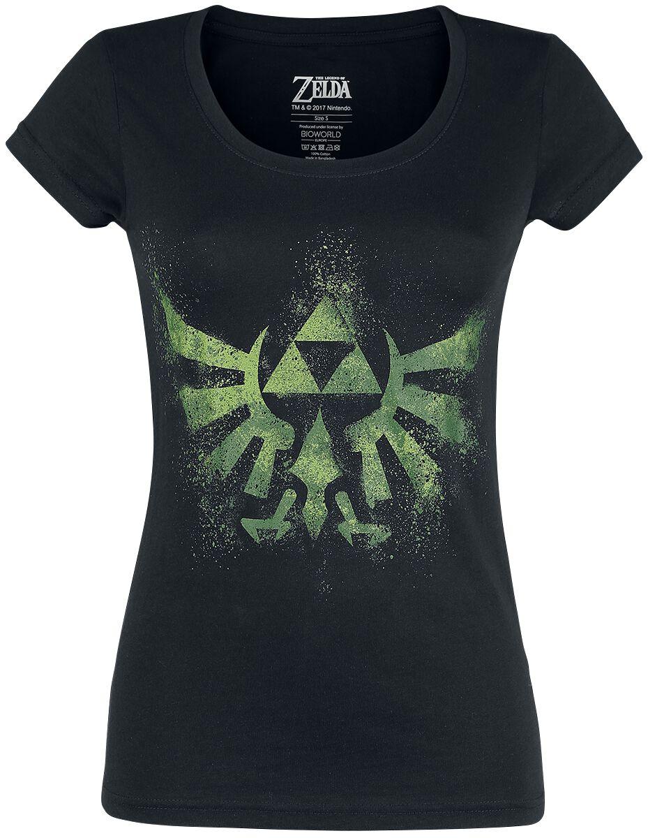 Image of   The Legend Of Zelda Hyrule Logo Girlie trøje sort