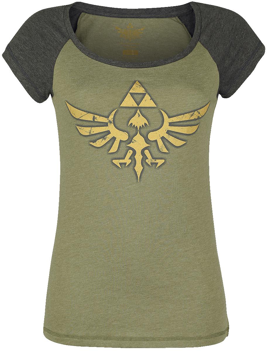 The Legend Of Zelda Triforce Koszulka damska ciemnoszary melanż/szary melanż