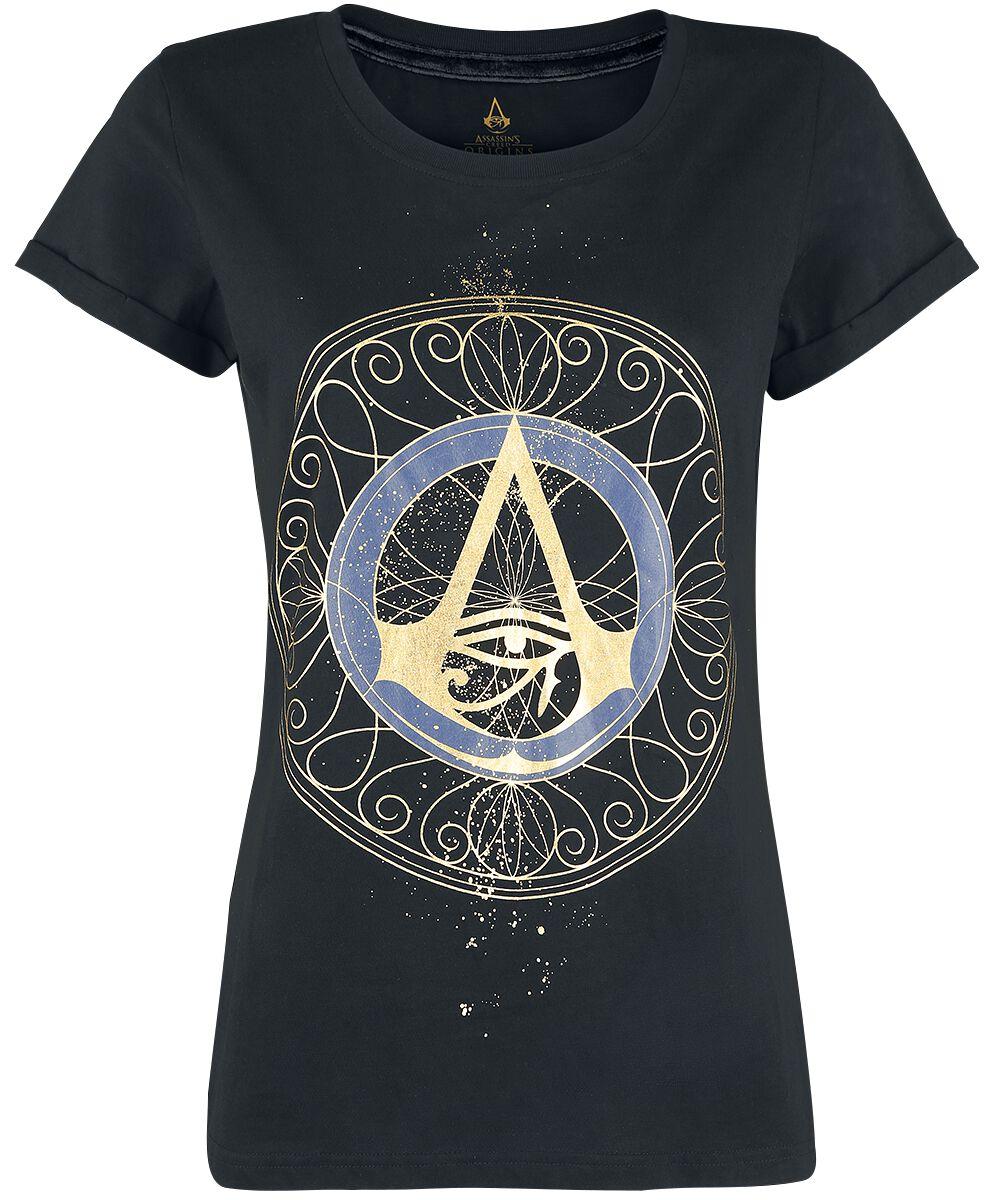 Image of   Assassin's Creed Origins - Logo Girlie trøje sort
