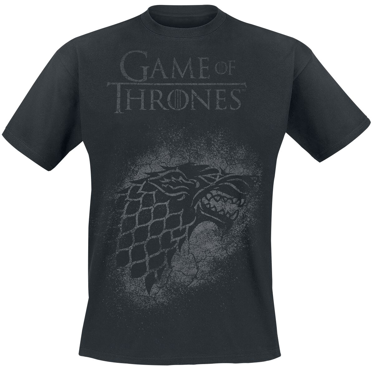 Image of   Game Of Thrones House Stark - Spray T-Shirt sort