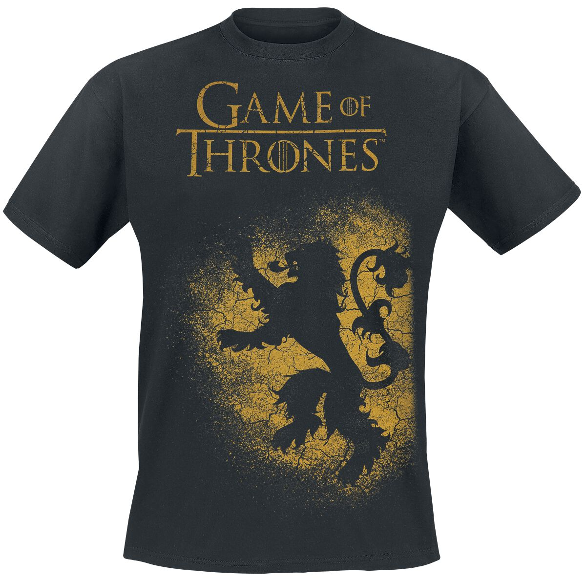 Image of   Game Of Thrones House Lannister - Spray T-Shirt sort