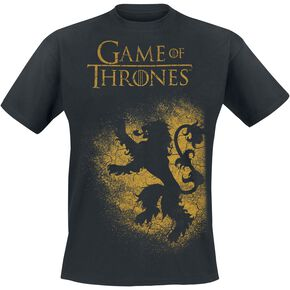 Game Of Thrones House Lannister - Spray T-shirt noir