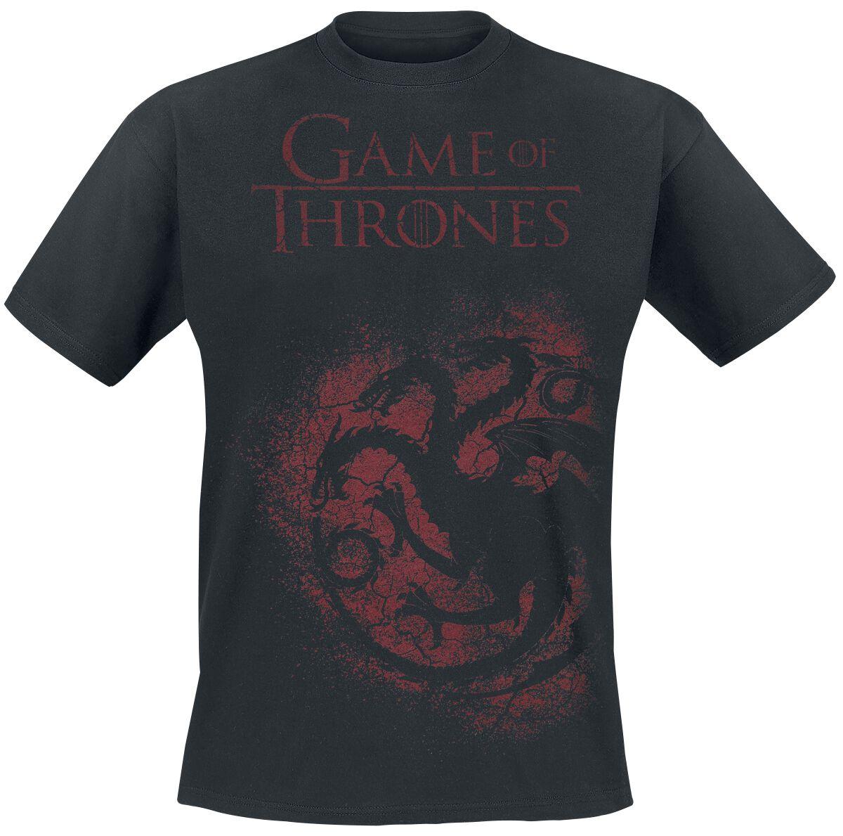 Image of   Game Of Thrones House Targaryen - Spray T-Shirt sort