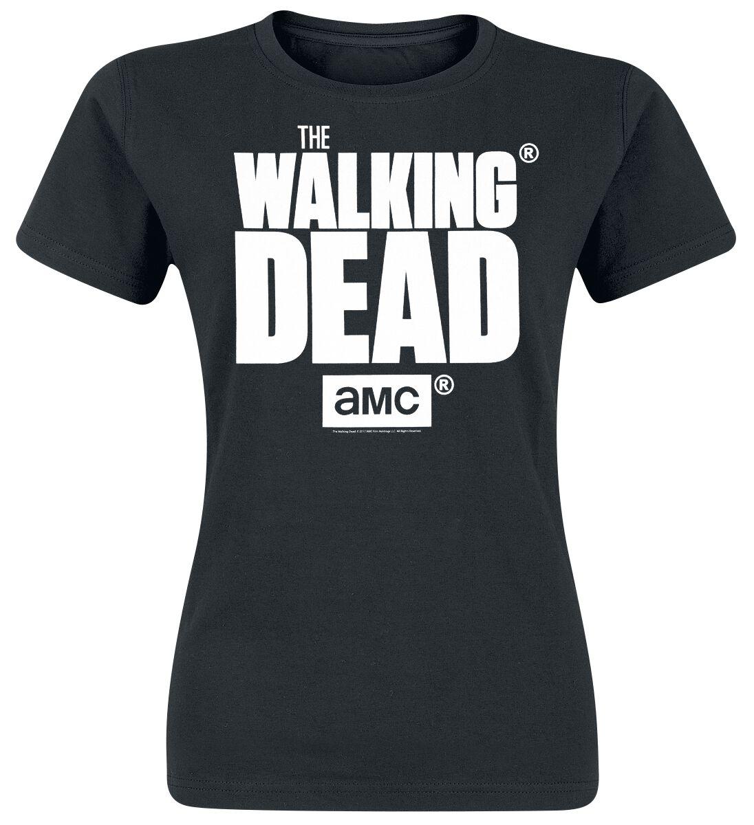 Image of   The Walking Dead Logo Girlie trøje sort