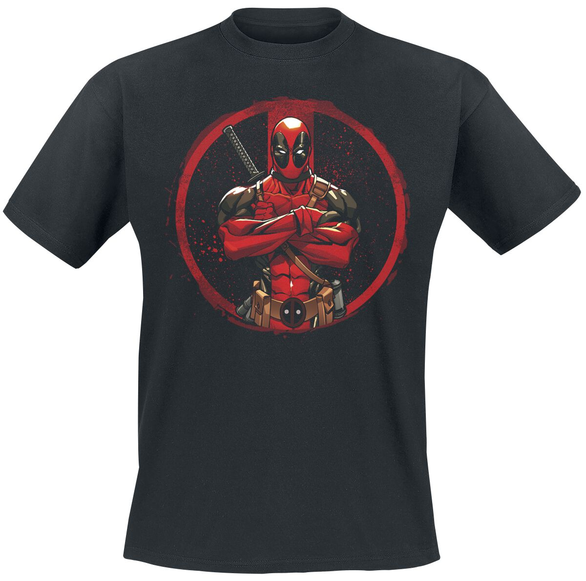 Image of   Deadpool Pose T-Shirt sort