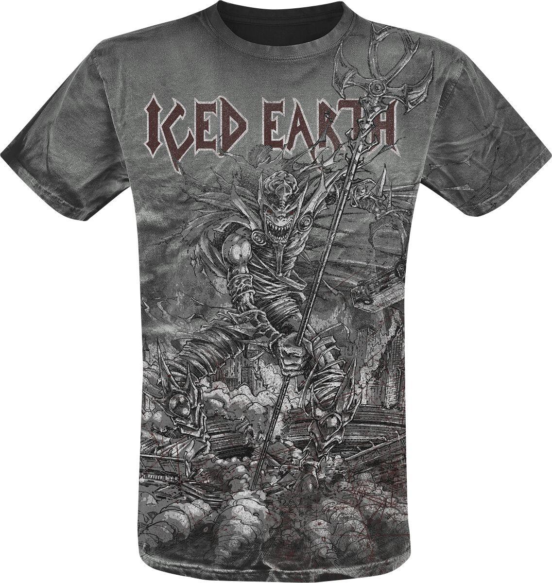 Zespoły - Koszulki - T-Shirt Iced Earth Set Abominae Vintage T-Shirt czarny - 366983