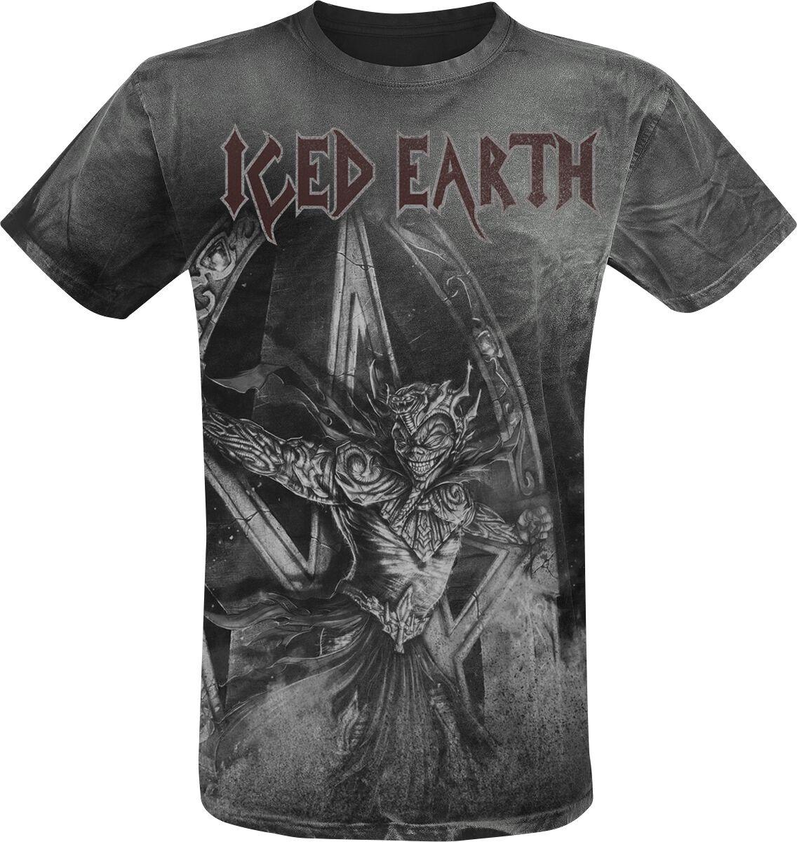 Zespoły - Koszulki - T-Shirt Iced Earth Incorruptible Vintage T-Shirt czarny - 366984