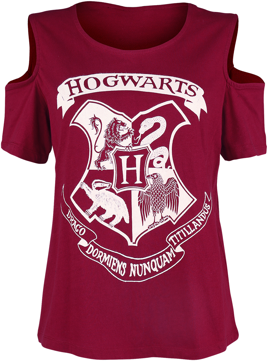 Harry Potter - Houses - Girls shirt - burgundy