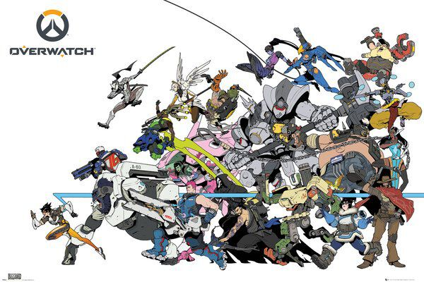 Overwatch Battle Póster multicolor