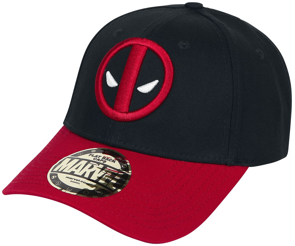 Image of   Deadpool Logo Baseball Cap sort-rød