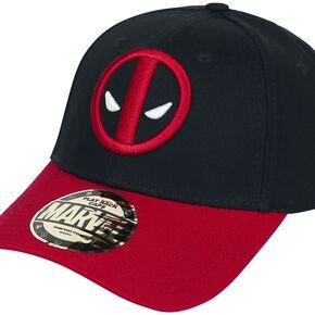 Deadpool Logo Casquette Baseball noir/rouge