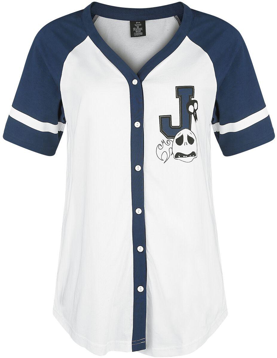 Image of   The Nightmare Before Christmas Jack 93 Girlie trøje hvid-mørk blå