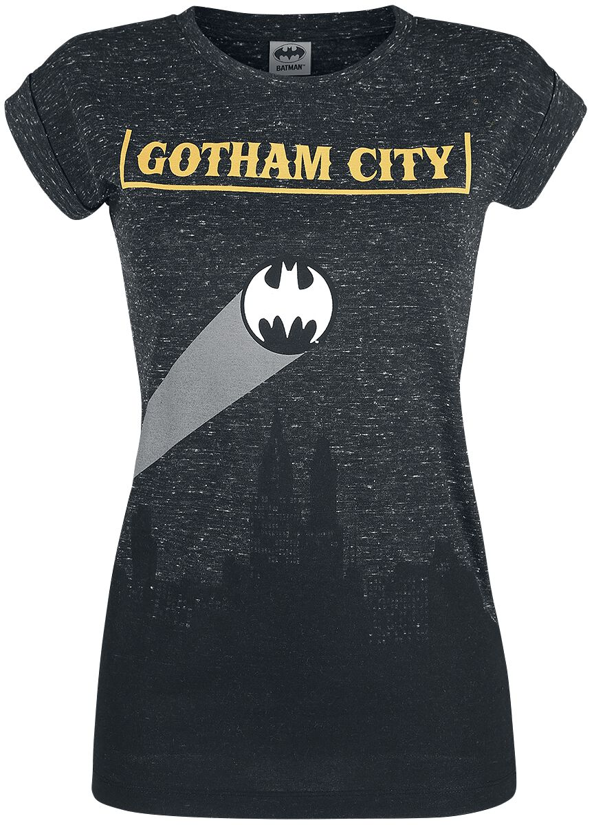 Image of   Batman Gotham City Girlie trøje mørk grålig