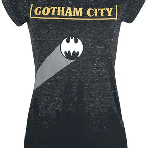 Batman Gotham City T-shirt Femme gris sombre chiné