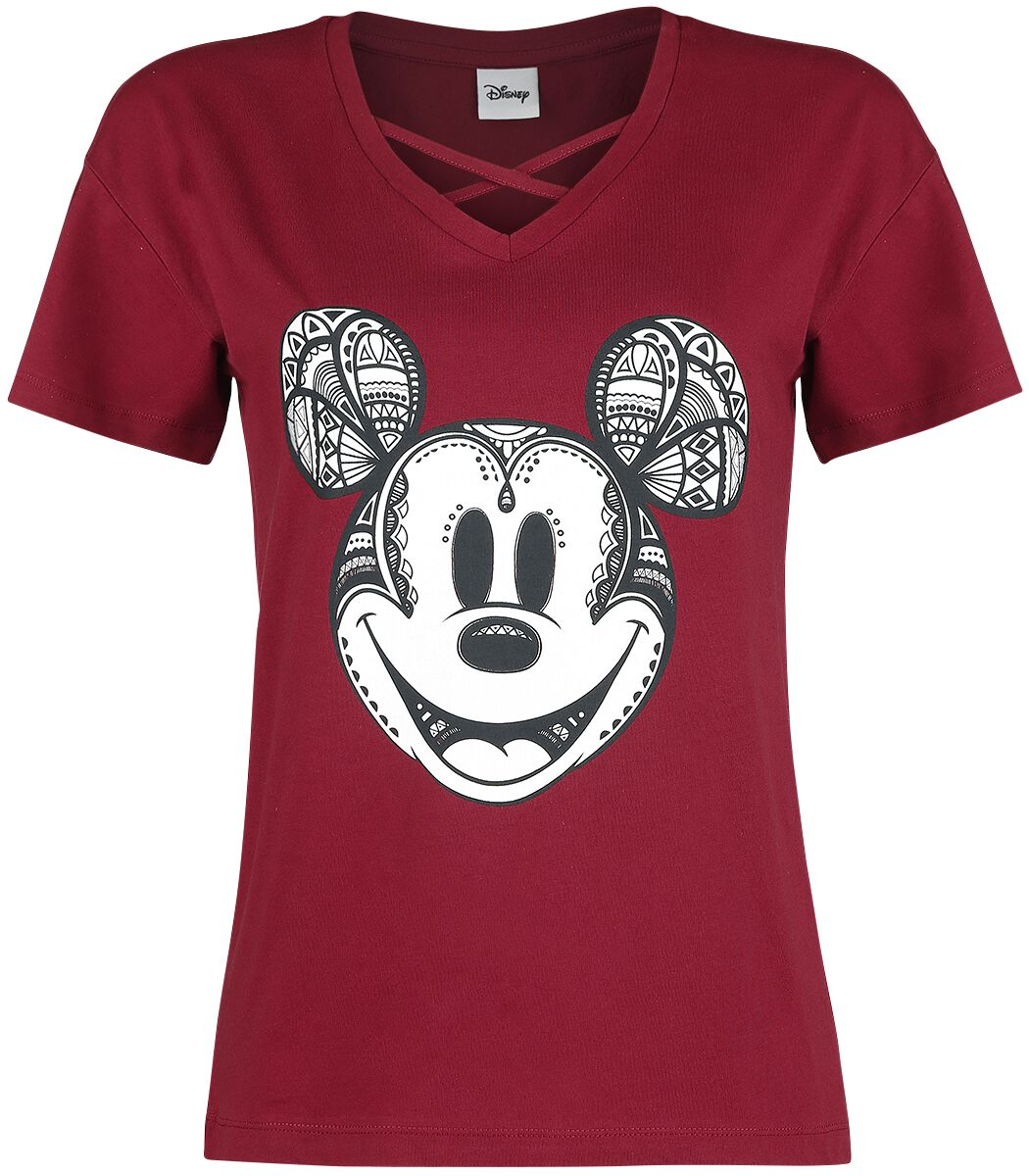 Image of   Mickey Mouse Ornamente Girlie trøje bordeaux