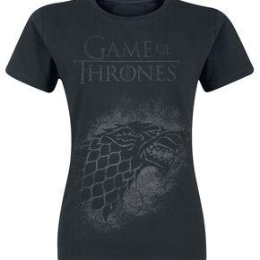 Game Of Thrones Maison Stark T-shirt Femme noir