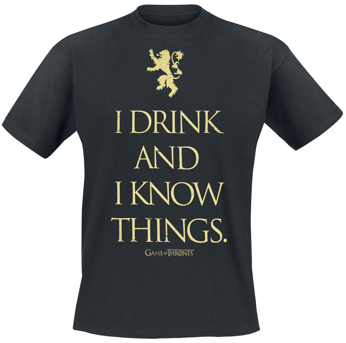 Image of   Game Of Thrones I Drink And I Know Things T-Shirt sort