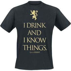 Game Of Thrones I Drink And I Know Things T-shirt noir