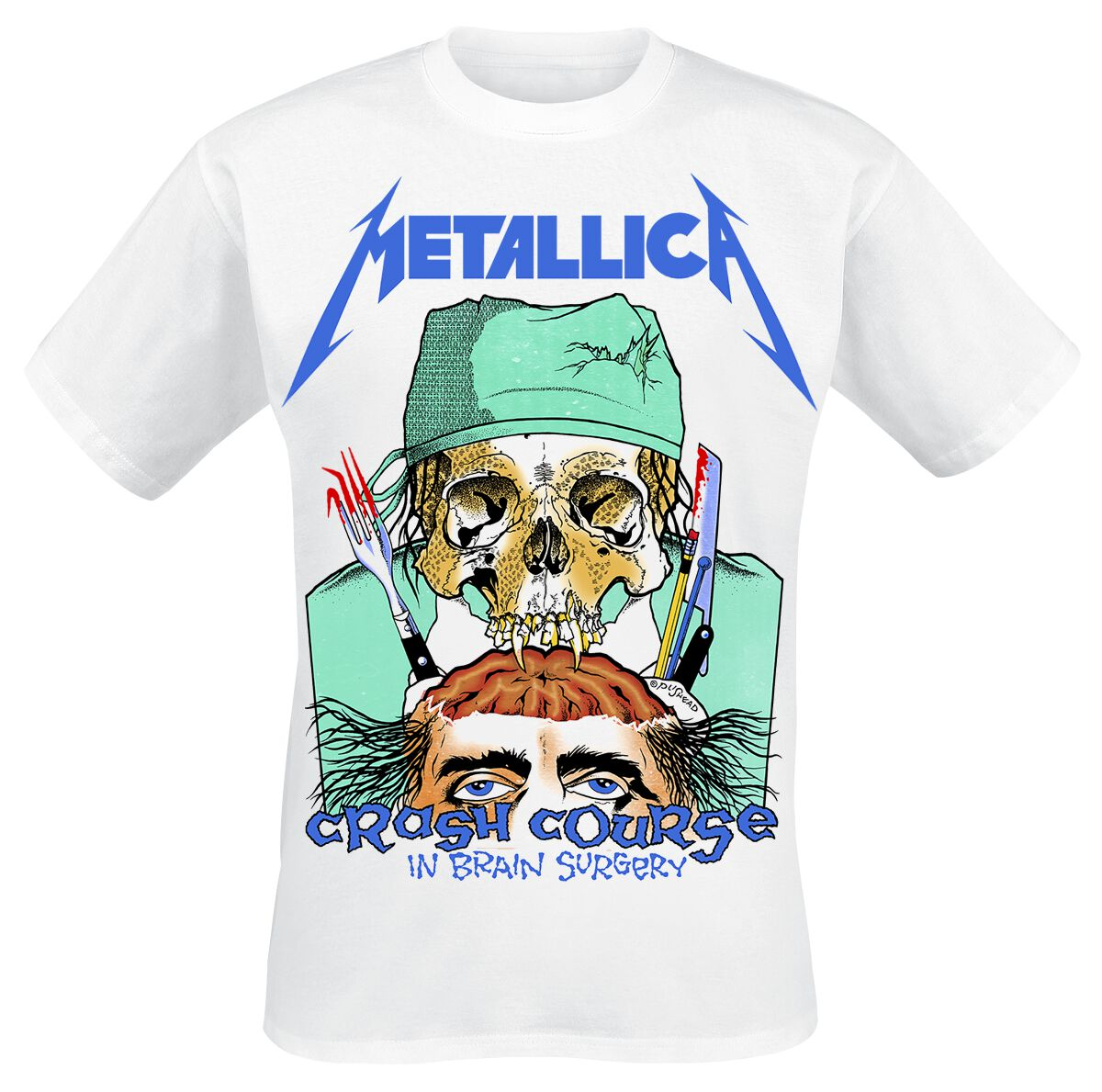 Image of   Metallica Crash Course In Brain Surgery T-Shirt hvid