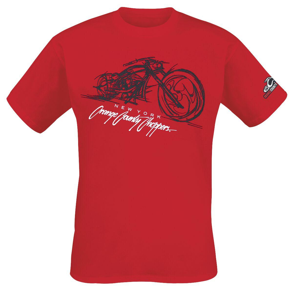 Marki - Koszulki - T-Shirt Orange County Choppers Bike Render T-Shirt czerwony - 367198