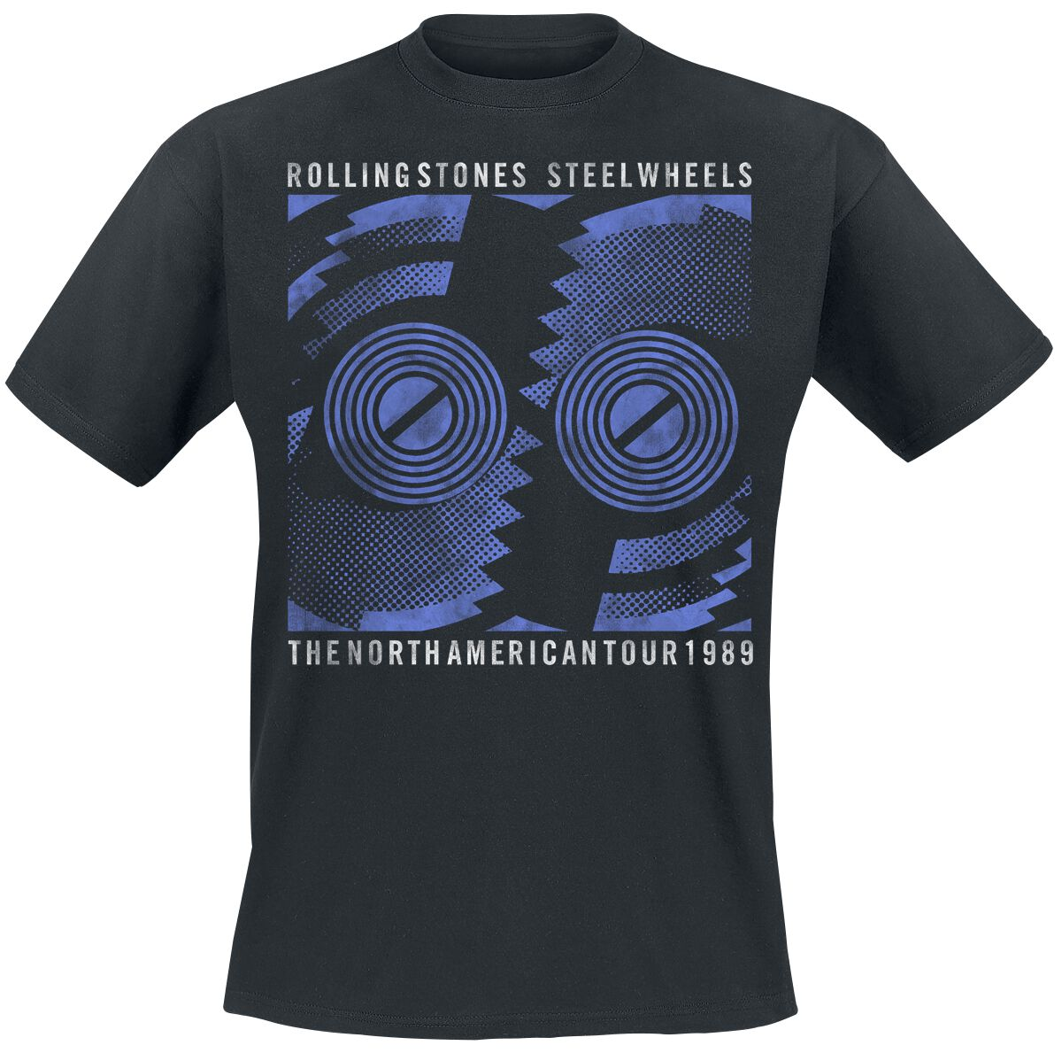 Image of   The Rolling Stones Steel Wheels Tour 1989 T-Shirt sort