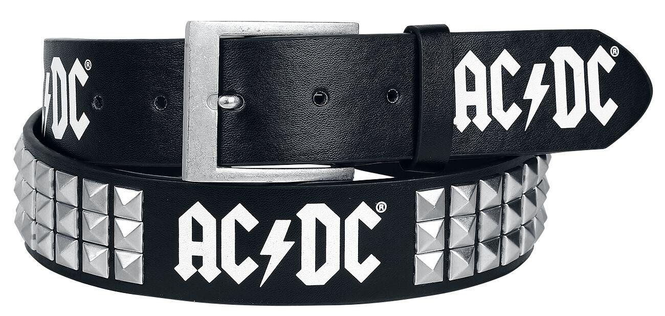Image of   AC/DC Logo Bælte sort
