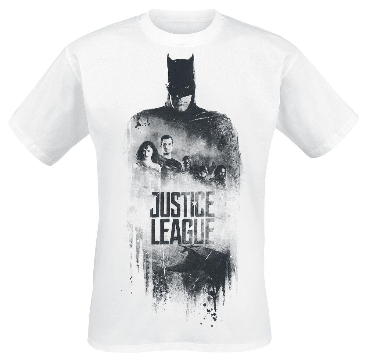 Image of   Justice League Squad Symbole T-Shirt hvid