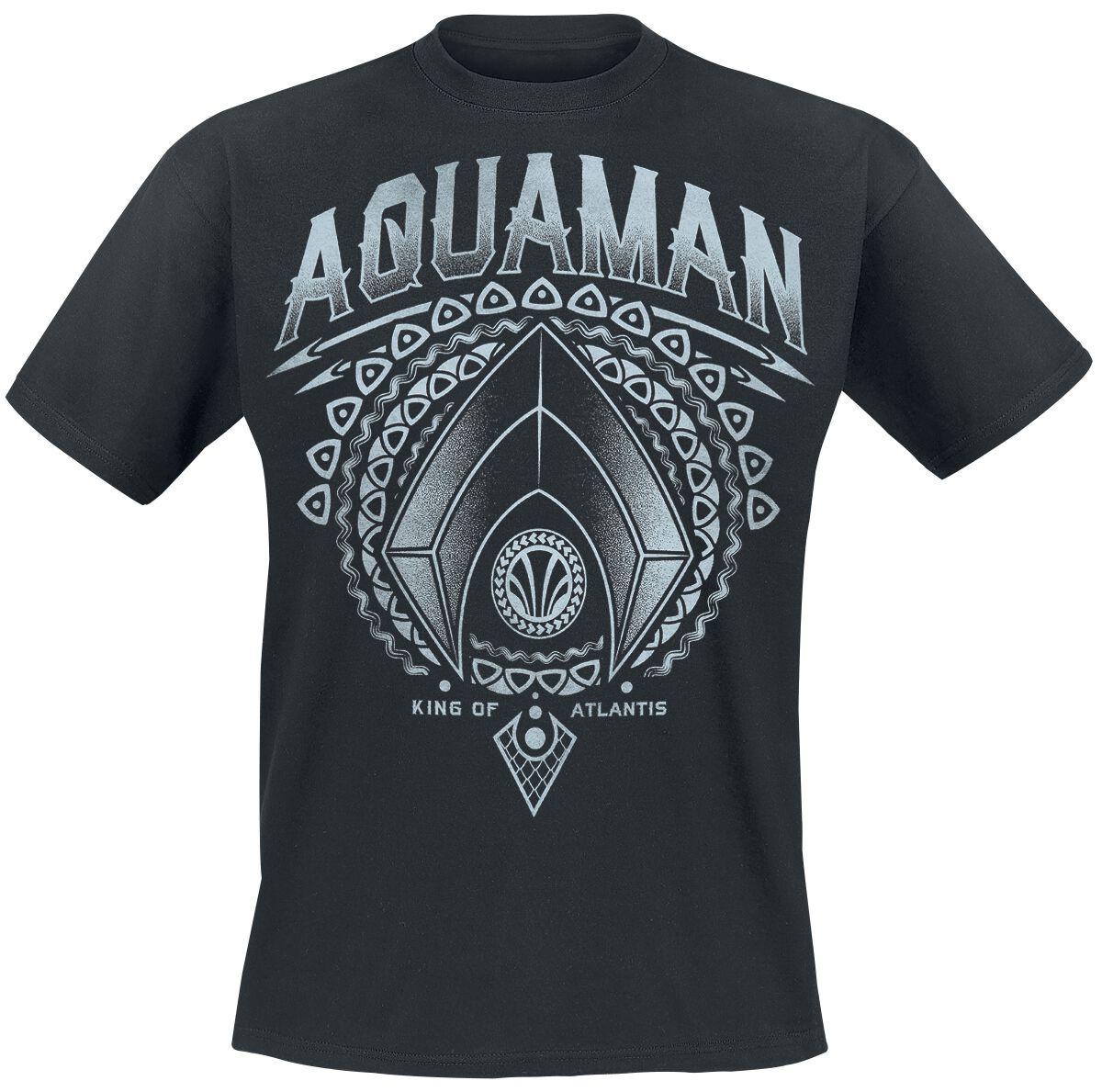 Image of   Justice League Aquaman - King Of Atlantis T-Shirt sort