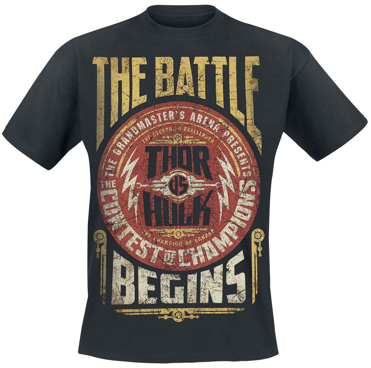 Image of   Thor Ragnarok - The Battle Begins T-Shirt sort