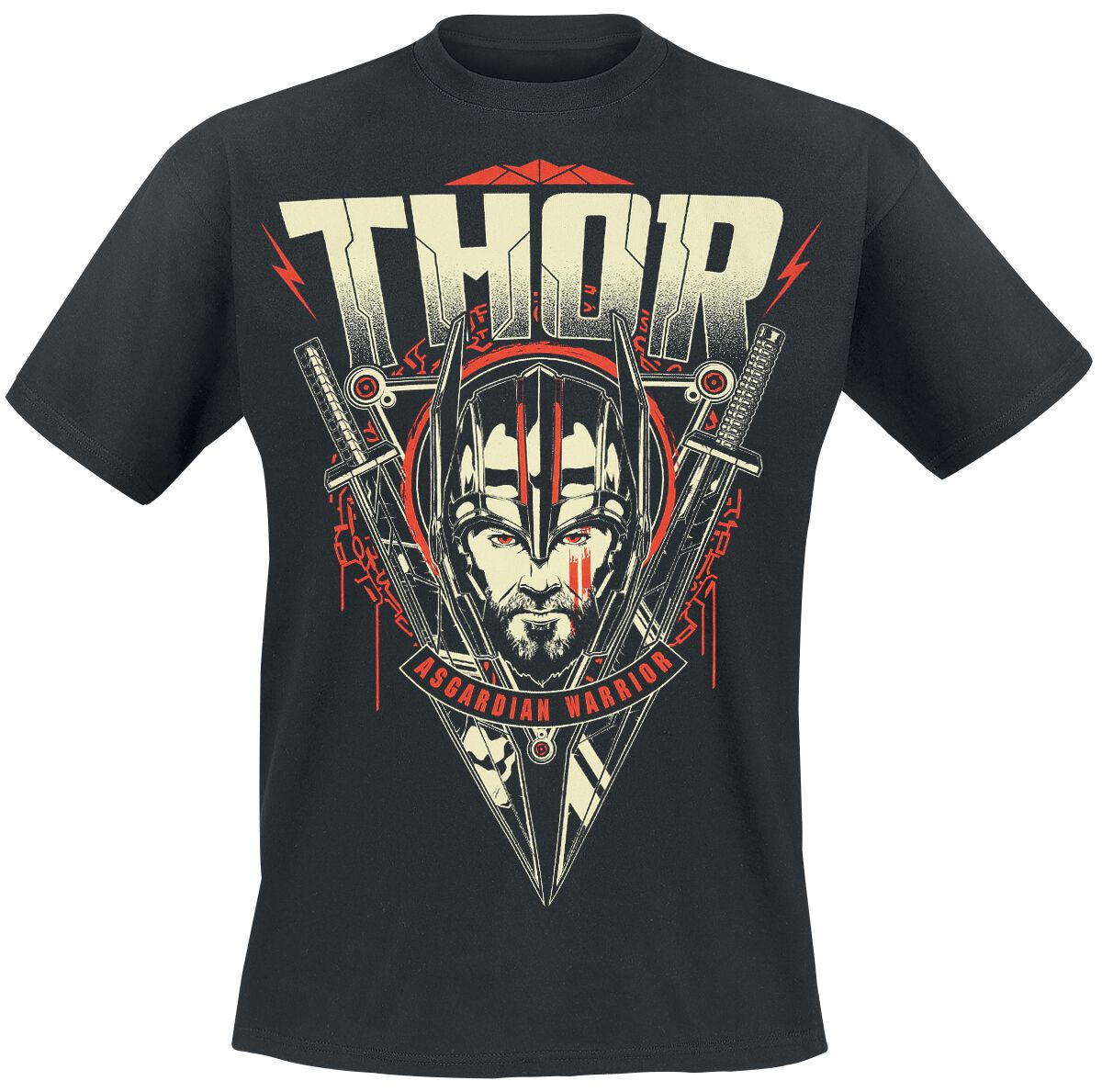 Image of   Thor Ragnarok - Asgardian Warrior T-Shirt sort