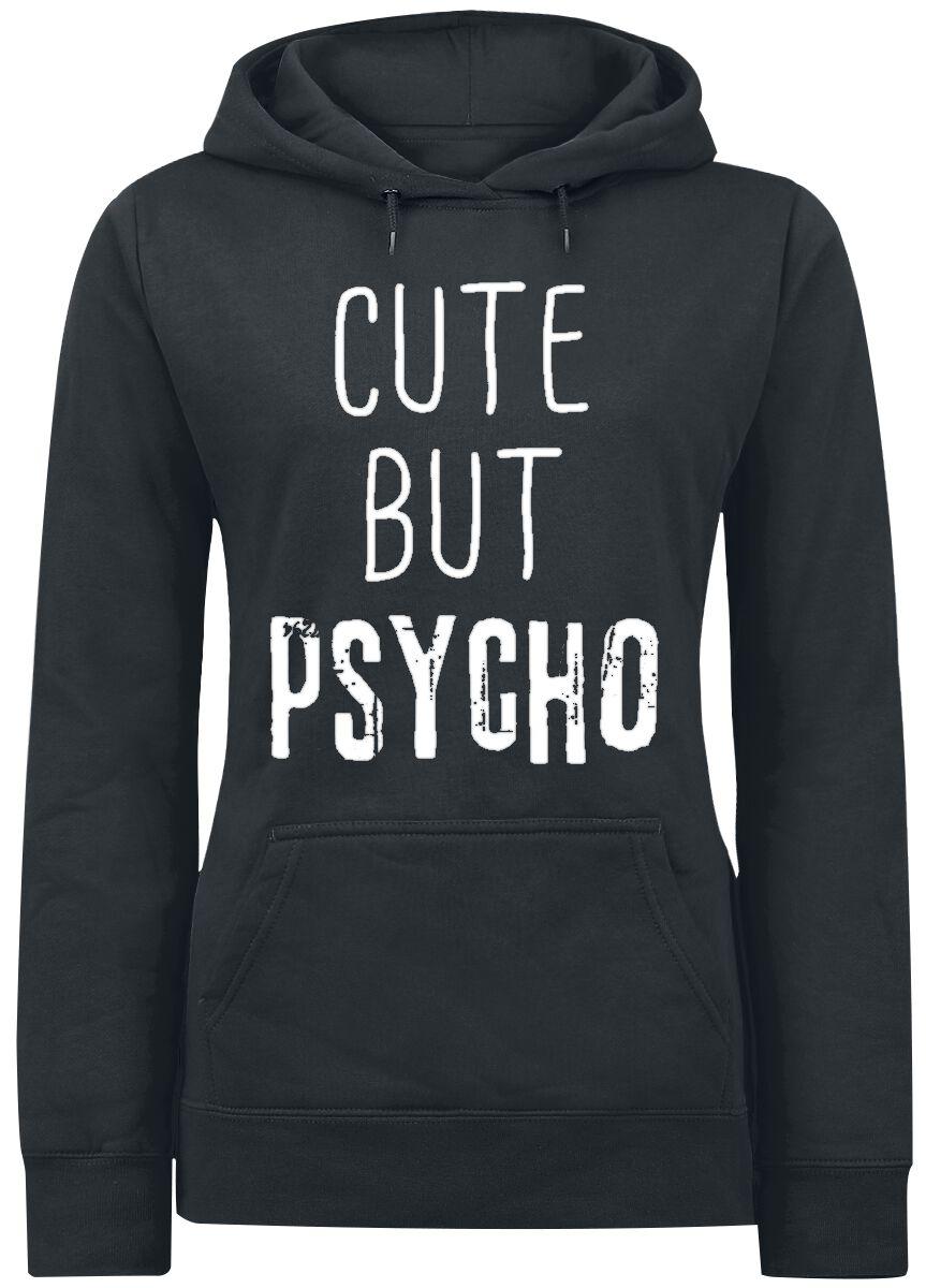 Fun Shirts - Bluzy z kapturem - Bluza z kapturem damska Cute But Psycho Bluza z kapturem damska czarny - 367280