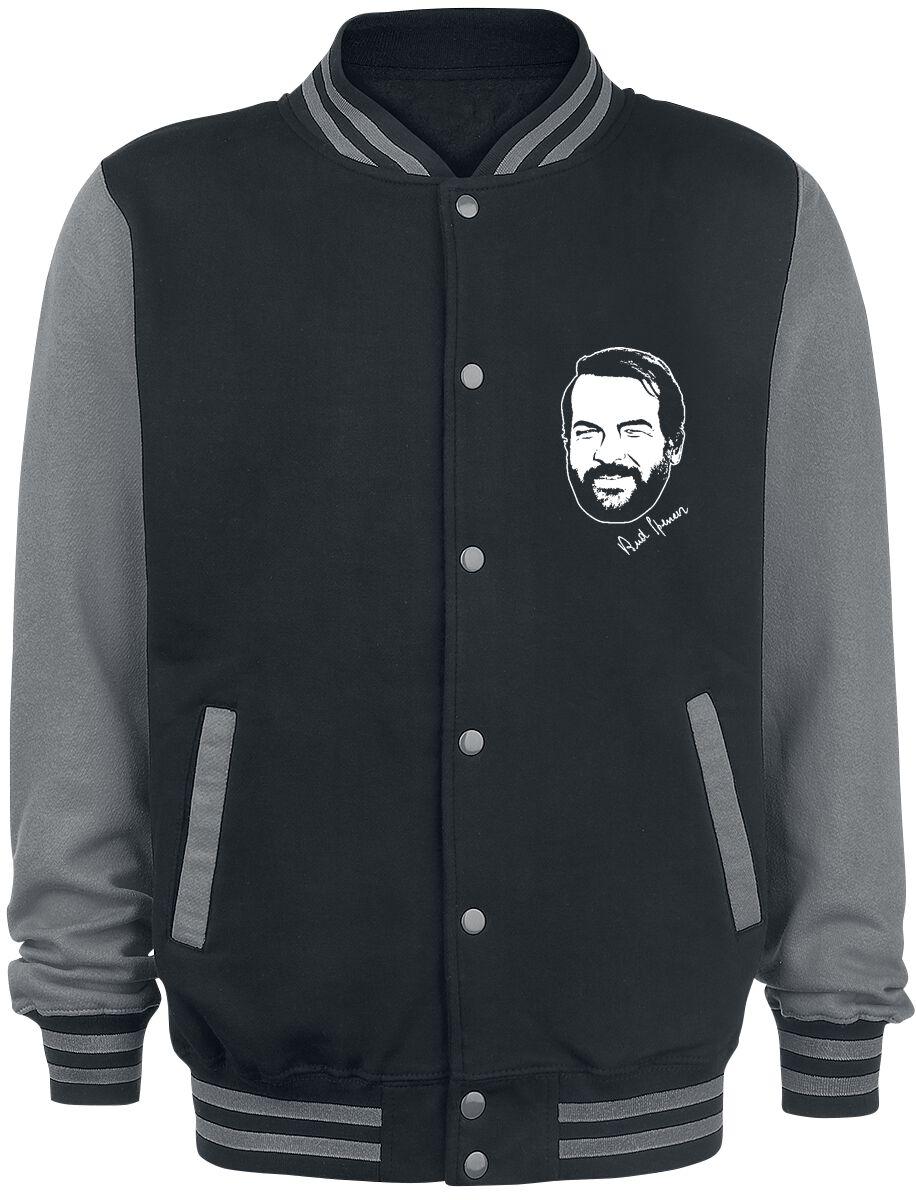 Merch dla Fanów - Kurtki - College Jacket Bud Spencer The Legend College Jacket czarny/szary - 367302