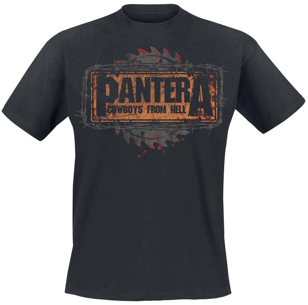Zespoły - Koszulki - T-Shirt Pantera Cowboys From Hell Buzz Saw T-Shirt czarny - 367308
