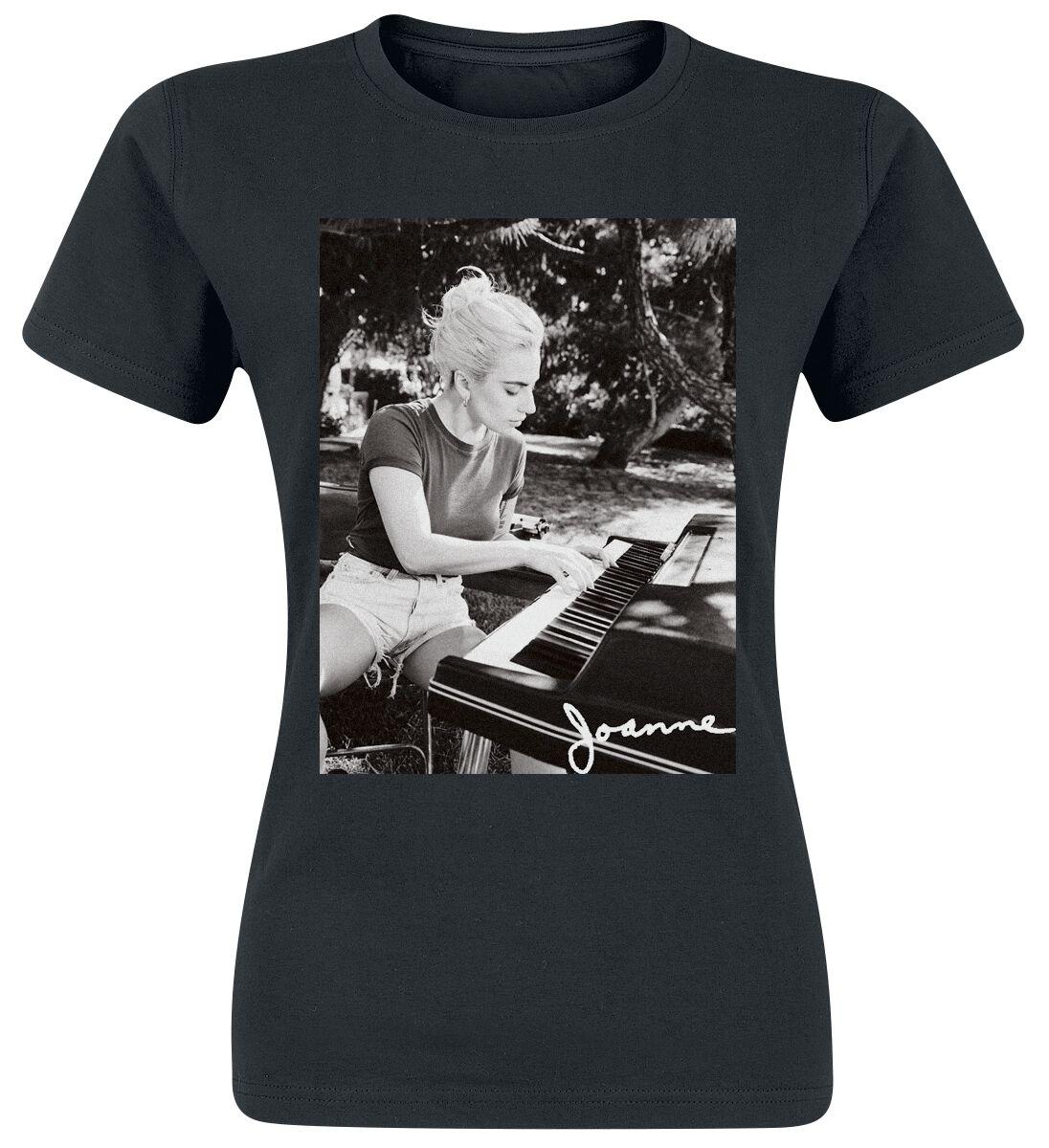 Zespoły - Koszulki - Koszulka damska Lady Gaga Joanne Piano Photo Koszulka damska czarny - 367316