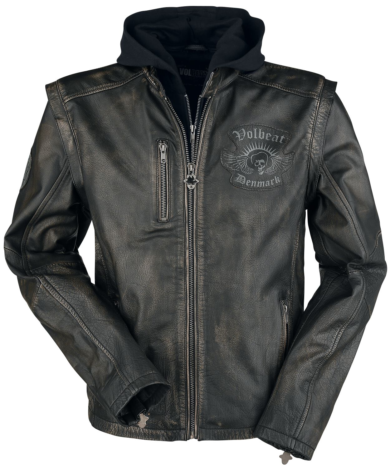Image of   Volbeat EMP Signature Collection Læderjakke sort-brun