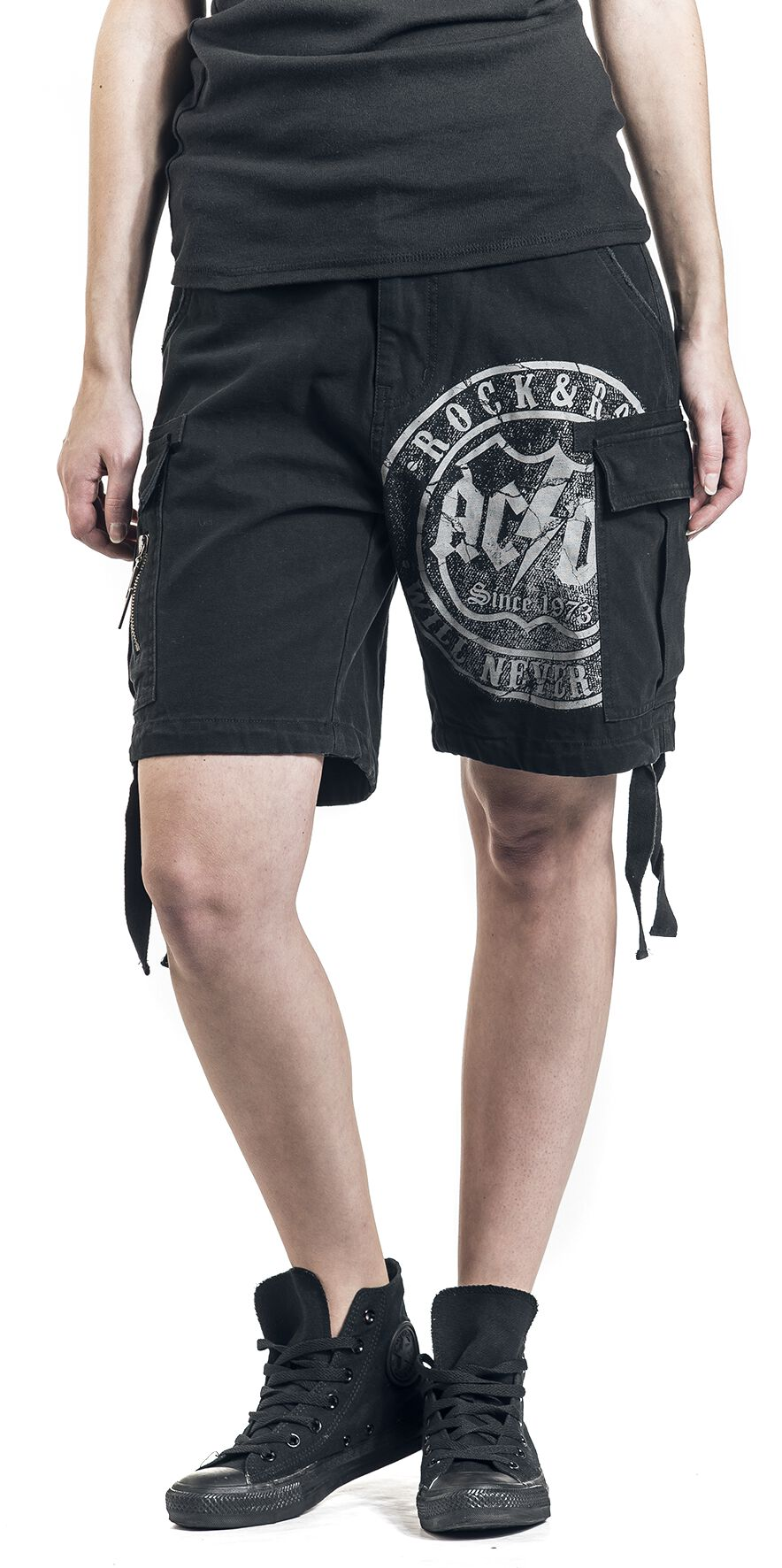Image of   AC/DC EMP Signature Collection Girlie shorts sort
