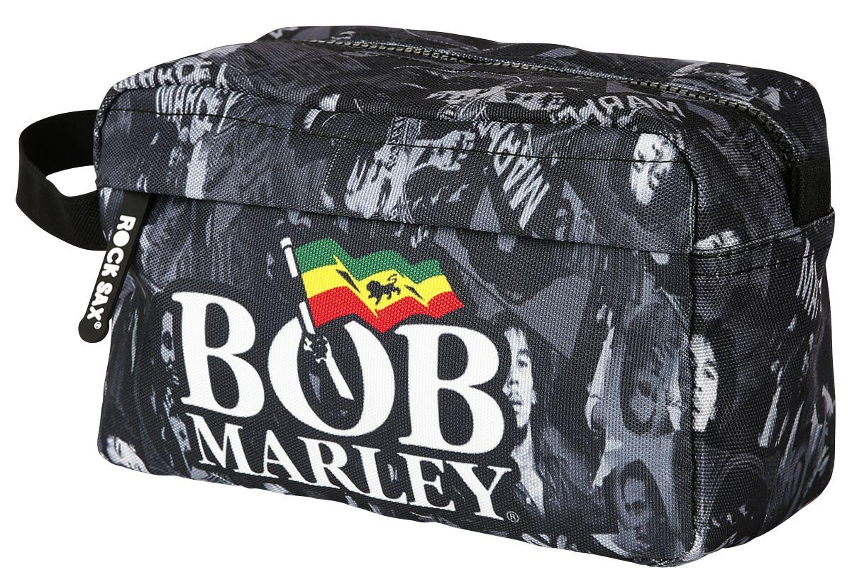 Zespoły - Torby i Plecaki - Torebka na przybory toaletowe Bob Marley Collage Torebka na przybory toaletowe czarny - 367502