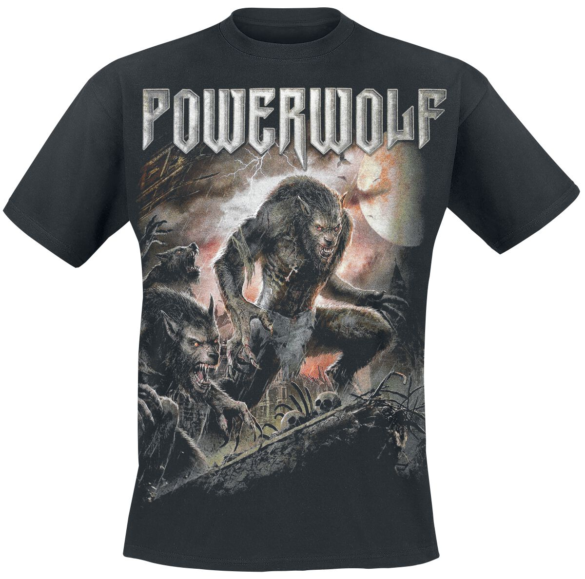 Image of   Powerwolf When The Moon Shines Red T-Shirt sort