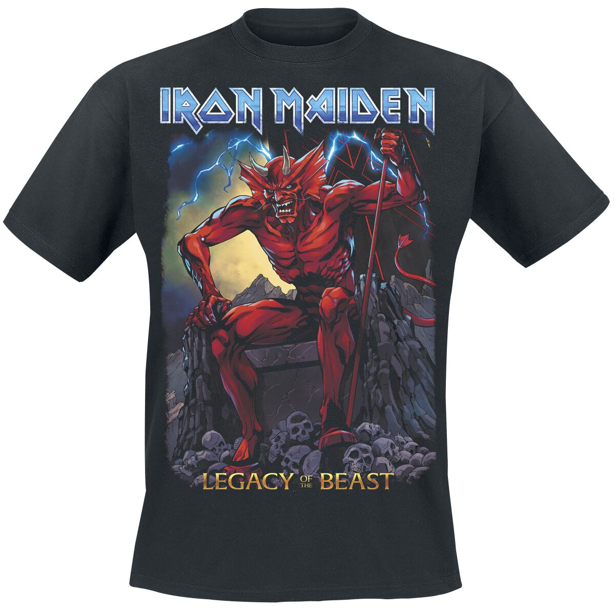 Image of   Iron Maiden Legacy of the Beast 2 - Devil T-Shirt sort