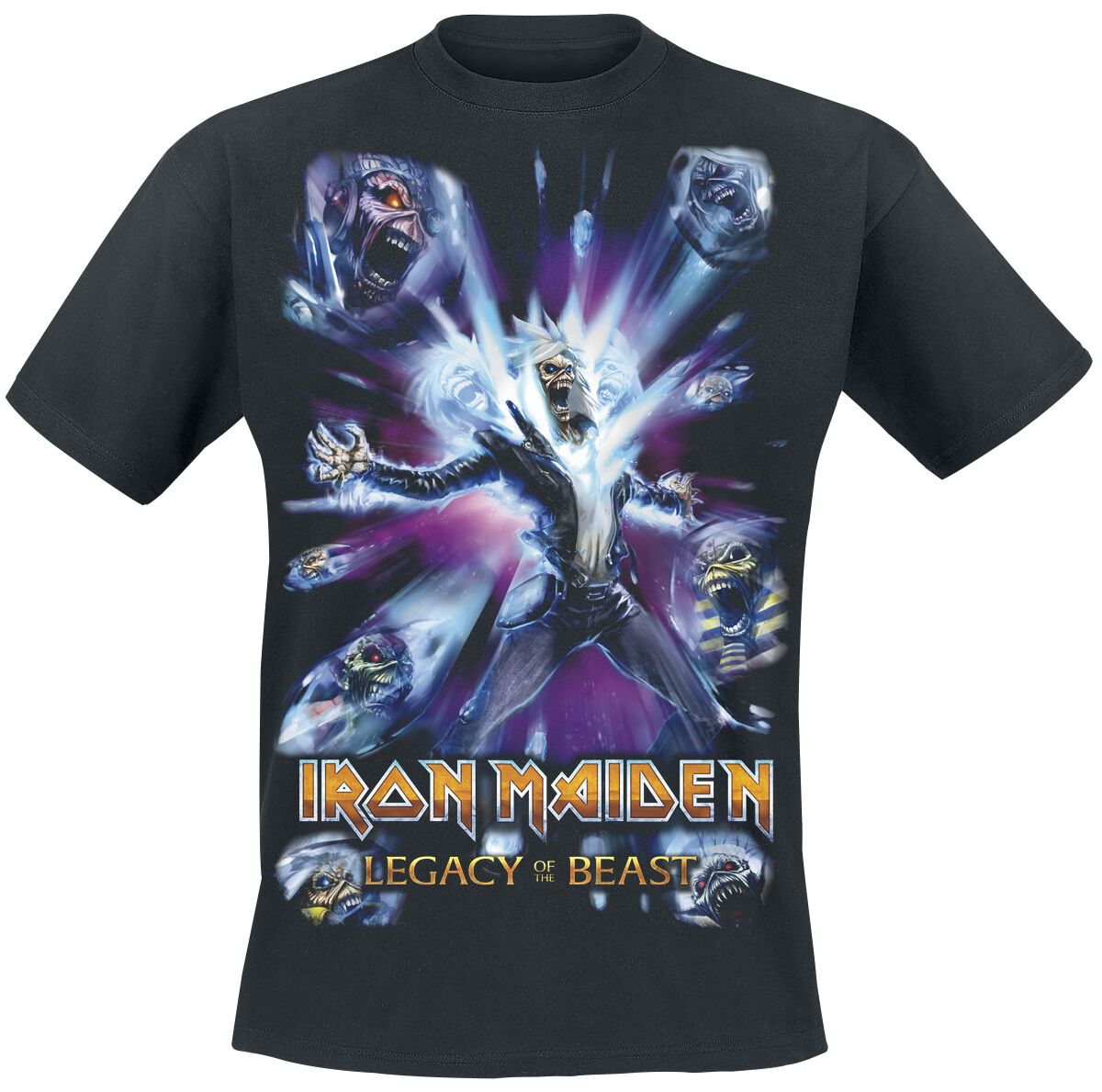 Image of   Iron Maiden Legacy of the Beast 3 - Comic Cover T-Shirt sort