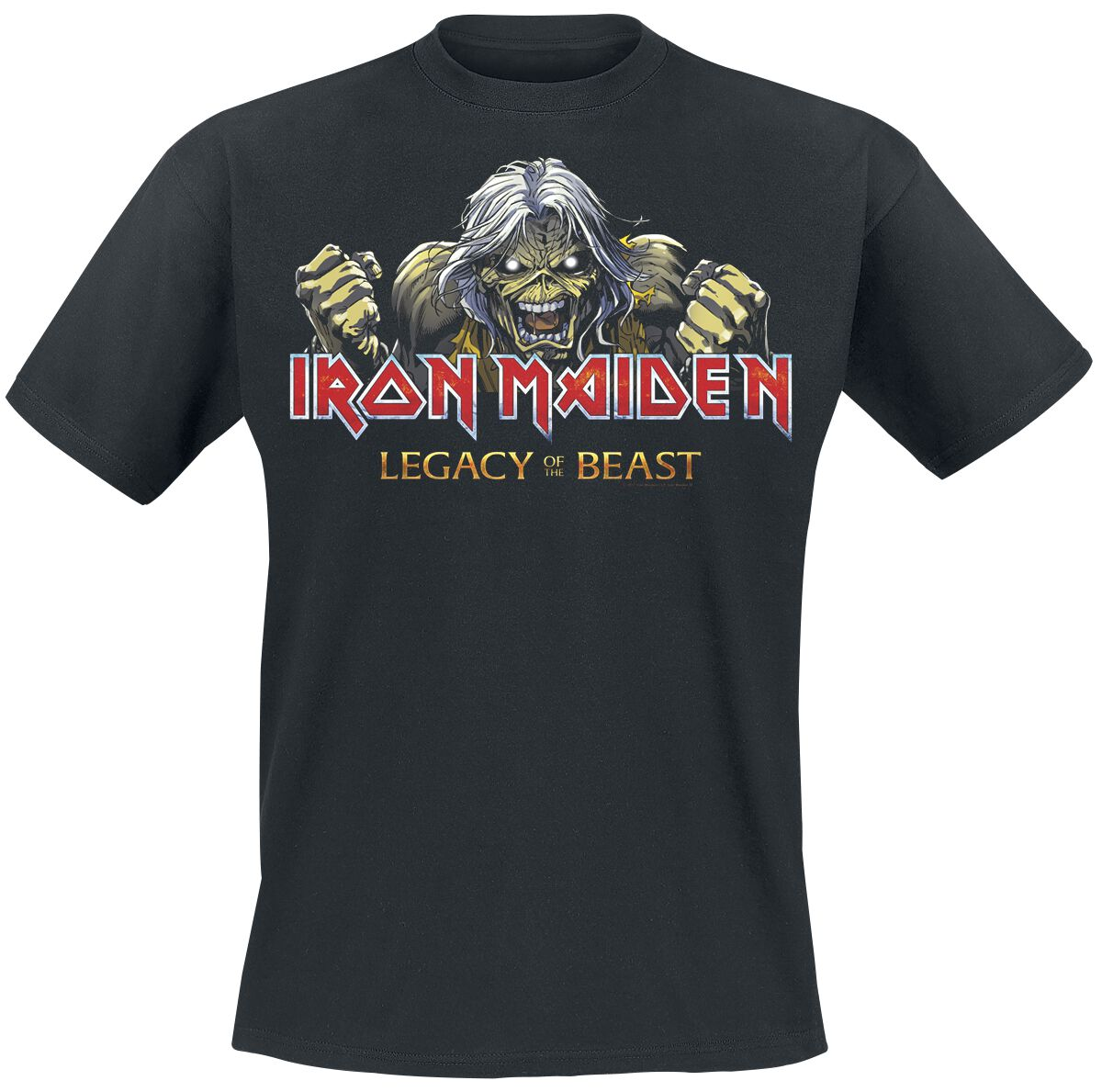 Image of   Iron Maiden Legacy of the Beast 1 - Eddie Breaking Chains T-Shirt sort
