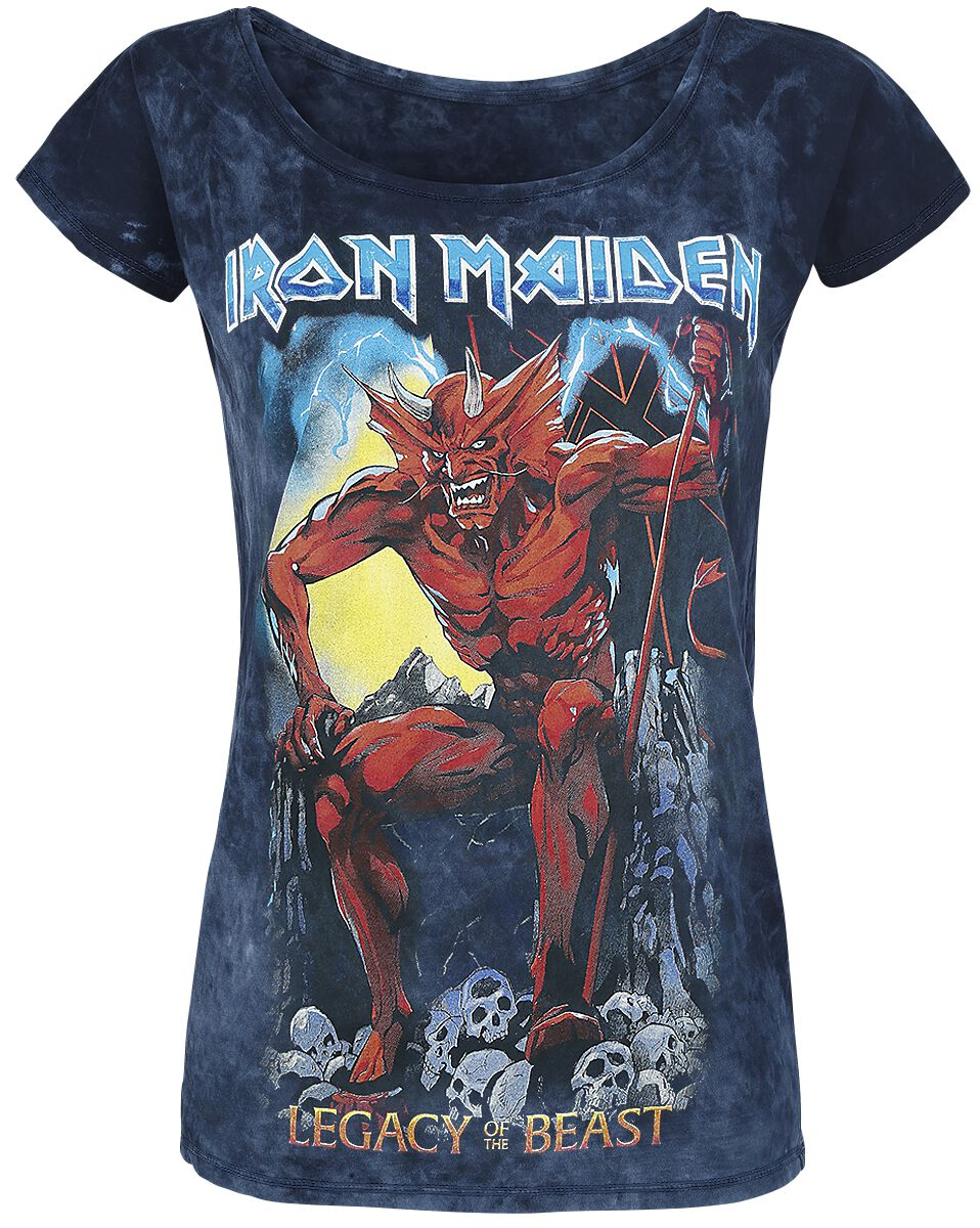 Image of   Iron Maiden Legacy of the Beast 2 Girlie trøje grå-navy