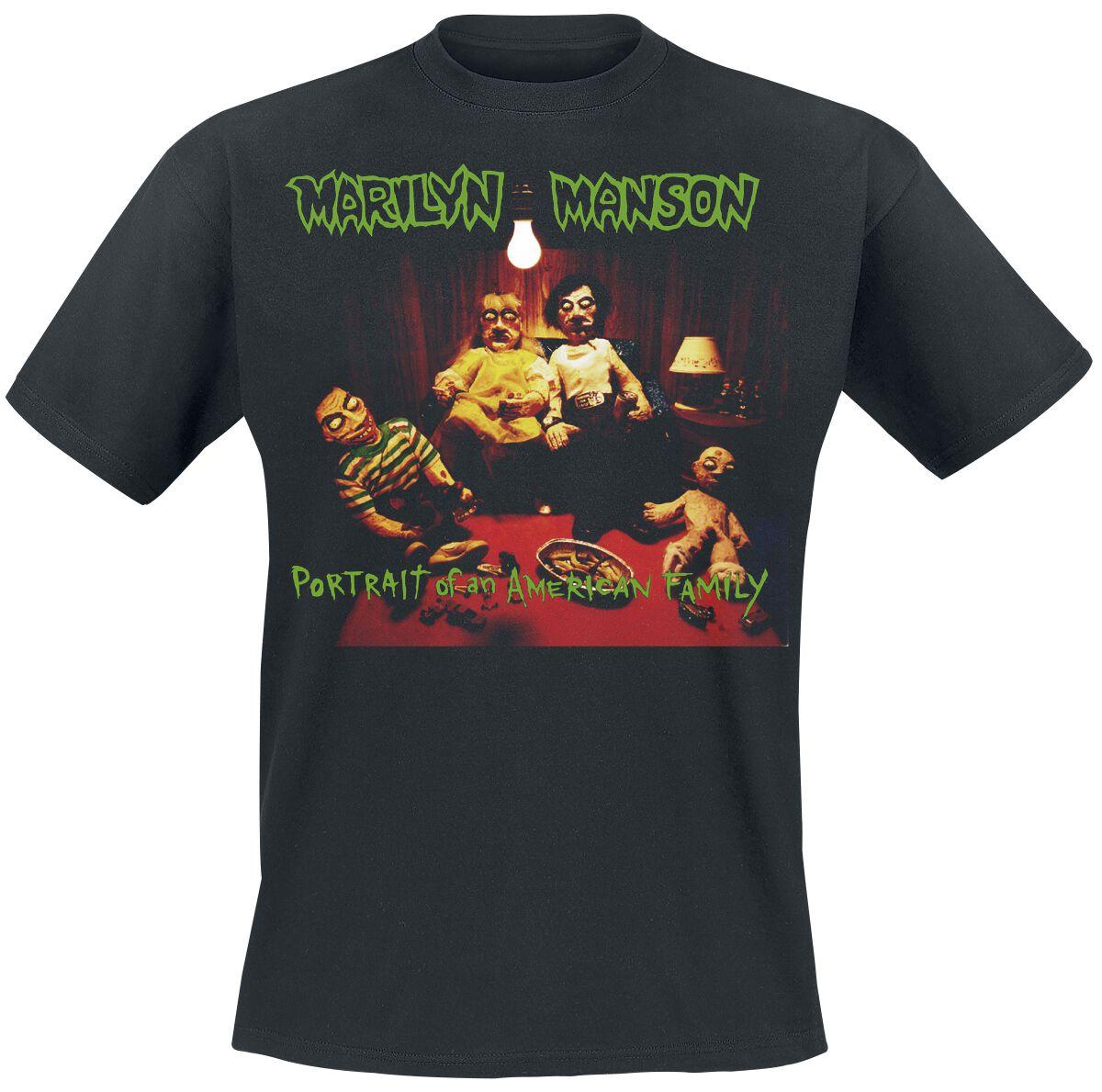 Zespoły - Koszulki - T-Shirt Marilyn Manson American Family T-Shirt czarny - 367644
