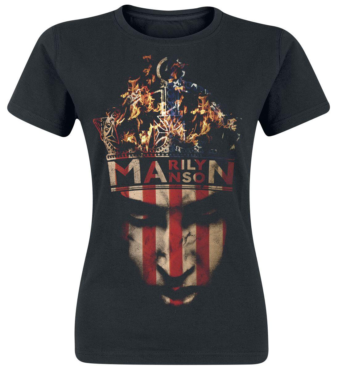 Zespoły - Koszulki - Koszulka damska Marilyn Manson Crown Koszulka damska czarny - 367651