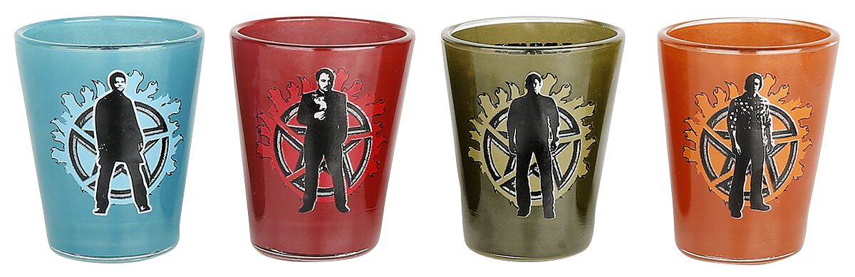 Image of   Supernatural Winchester Brothers Shotglas, sæt multifarvet